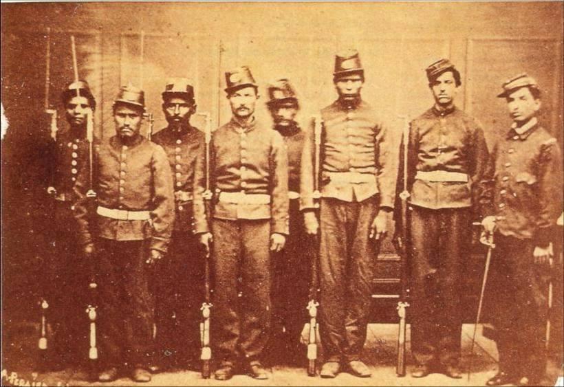 Los soldados mexicanos ante los franceses
